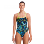 Funkita Midnight Marble Svømmedragt – Dame – Strapped in One